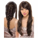 Janet Collection Easy Wig Braid Bang Hair Half Wig LIANNE